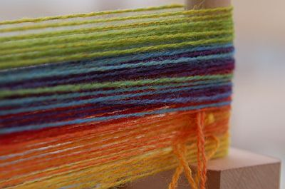 Ashford Knitters Loom - Kauni rainbow