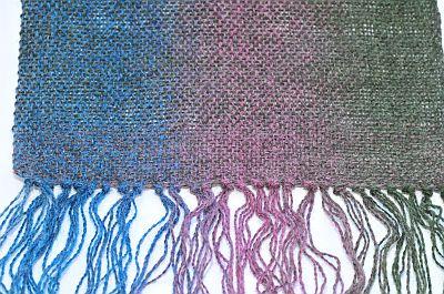 gewebter Schal aus Kauni
