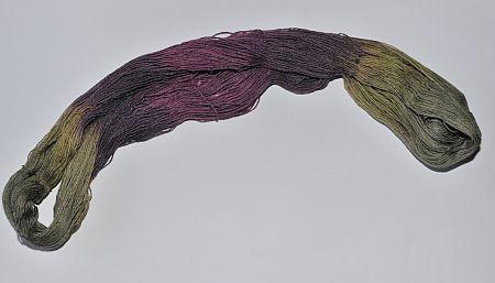 gewebte handgefärbte Garne
