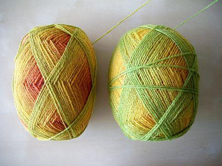 Kauni Regenbogen EQ mit Knoten
