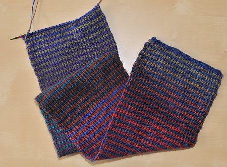 Schal aus Gründl Hotsocks Rainbow