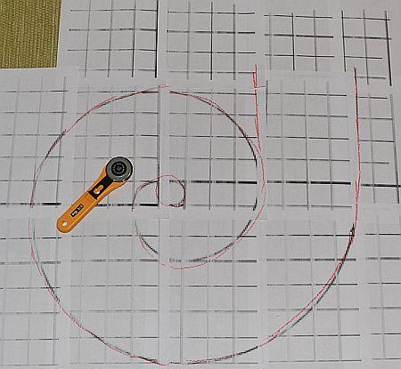 Spiralschal aus Wollwalk
