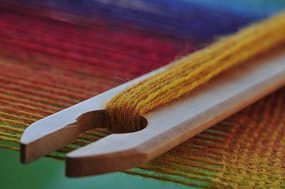 weben auf dem knitters loom