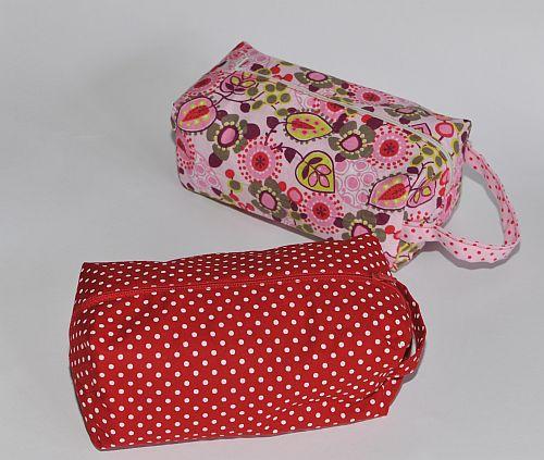 Nähen zipper pouch strickzeugtasche